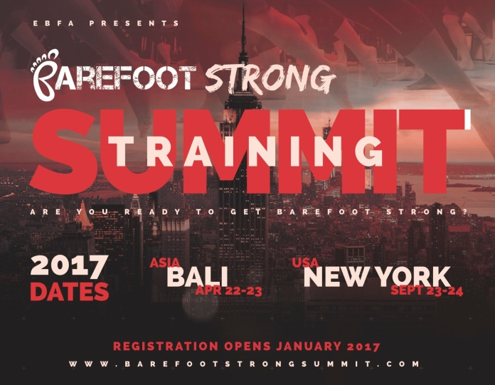 Barefoot Strong Training Summits 2017 Flyer